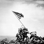 Raising The Flag On Iwo Jima, 1945