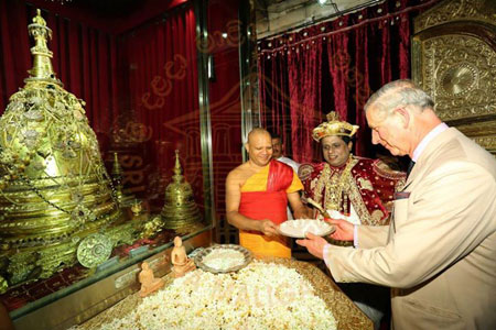 Prince of Wales to visit the tooth relic of Buddha