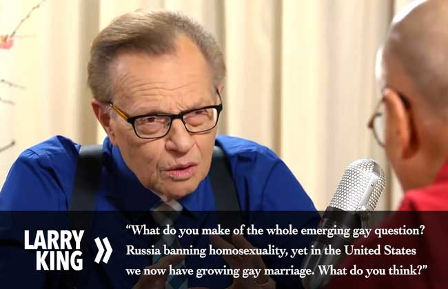 Larry King Pitches A Fastball On Gay Marriage