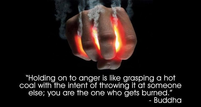 Image result for holding on to anger buddha quote