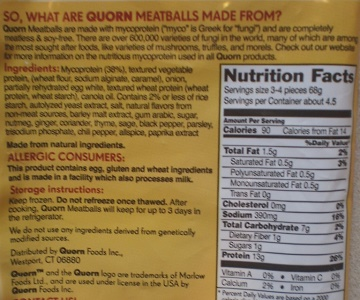 Photo via Meat Free Mom showing the controversial Quron label.